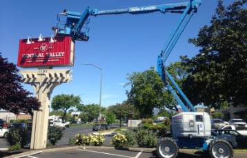 Large sign installation